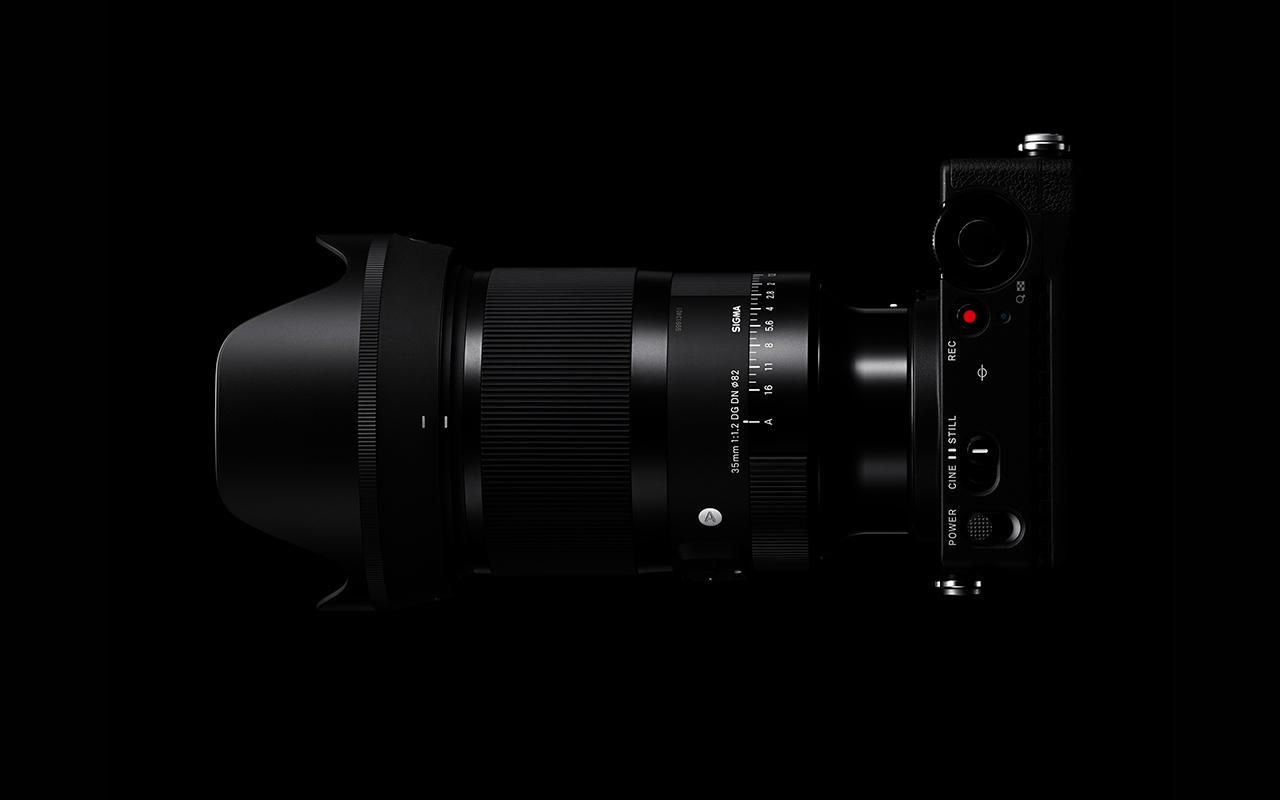 SIGMA Objektiv 35 mm F1,2 DG DN | Art Weitwinkel Festbrennweite Vollformat Draufsicht Querformat 1280x800px