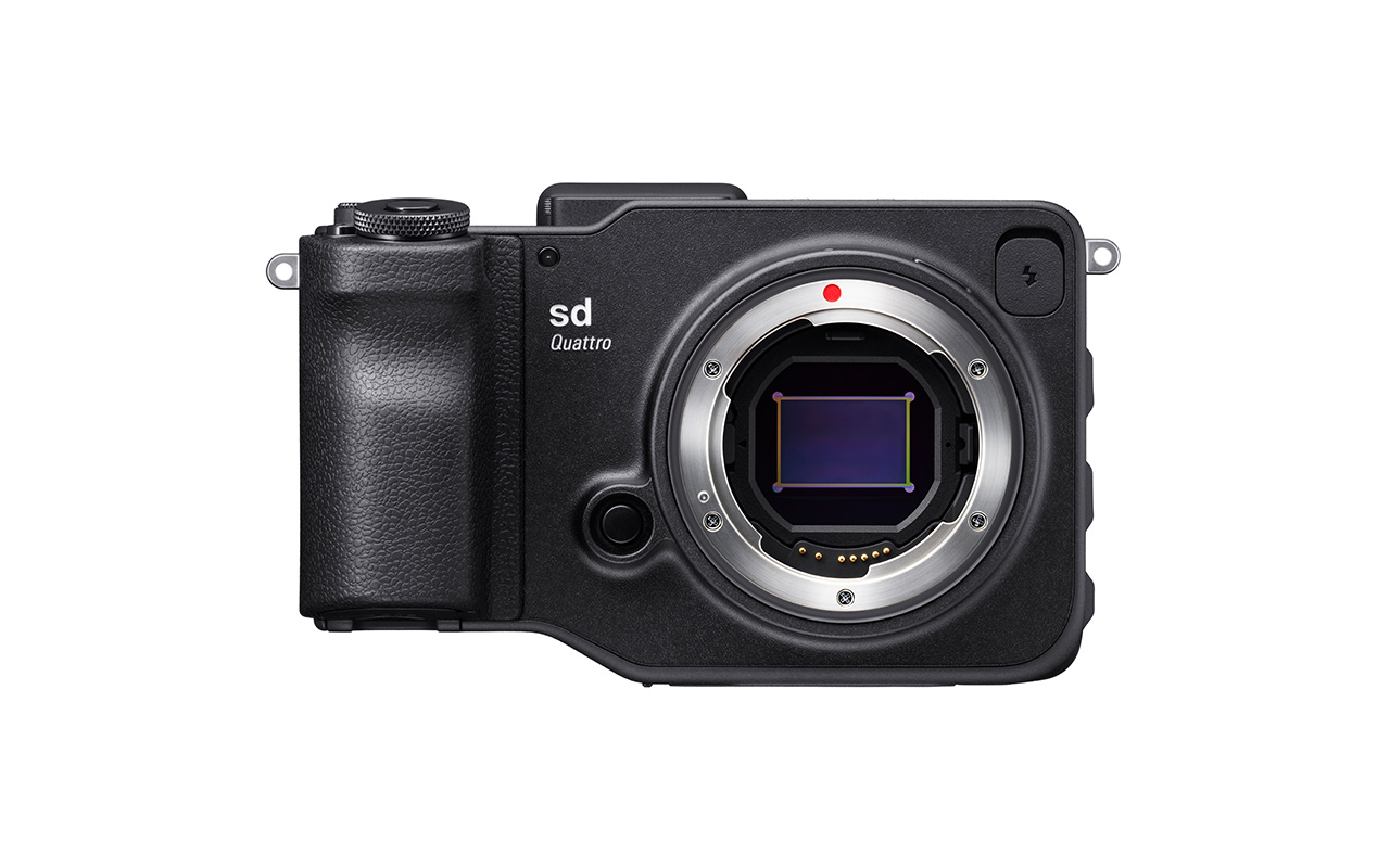 SIGMA sd Quattro Kamera Spiegellose Systemkamera Vorderansicht Produktbild 1280x800px